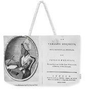 Phillis Wheatley, African-american Poet Weekender Tote Bag by Photo Researchers