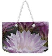 Pink Cactus Flowers Weekender Tote Bag