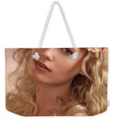 Portrait Of A Beautiful Young Woman Weekender Tote Bag