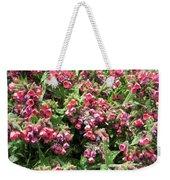 Pulmonaria Named Raspberry Splash Weekender Tote Bag