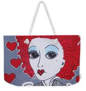 Queen Of Hearts Weekender Tote Bag