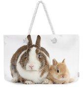 Rabbit And Baby Bunny Weekender Tote Bag