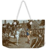 Reading The Declaration Of Independence Weekender Tote Bag by Photo Researchers