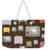 retro TV pattern  Weekender Tote Bag