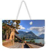 Road And Mountain Weekender Tote Bag