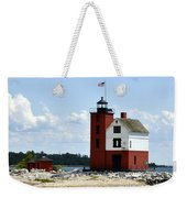 Round Island Lighthouse Weekender Tote Bag
