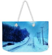 Rural Road In Winter Weekender Tote Bag