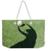 Shadow Playing Football Weekender Tote Bag