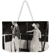 Silent Film Still: Ships Weekender Tote Bag