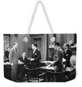 Silent Still: Courtroom Weekender Tote Bag