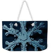 Snow Crystal Weekender Tote Bag