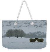 Snowy Hello Weekender Tote Bag