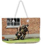 Soldiers Of The Belgian Army Helping Weekender Tote Bag