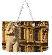 Statue Below Musee Du Louvre Weekender Tote Bag