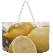 Still Life Of Bottles  And Lemons Weekender Tote Bag