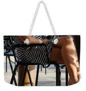 Stripped Dress Weekender Tote Bag