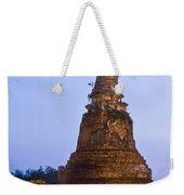 Stupa Chedi Of A Wat In Ayutthaya Thailand Weekender Tote Bag