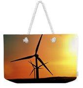 Sun Glare Upon Alberta Windfarm Weekender Tote Bag