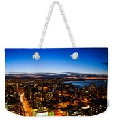 Sunset Over A City Nice Illuminated Weekender Tote Bag