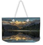 Sunset Reflection Of Lake Matheson Weekender Tote Bag