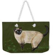 Sweetest Siamese Weekender Tote Bag by Leslie Allen