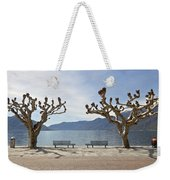 sycamore trees in Ascona - Ticino Weekender Tote Bag