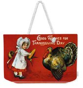 Thanksgiving Card, 1900 Weekender Tote Bag