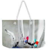 The Black Hand In Negative Weekender Tote Bag