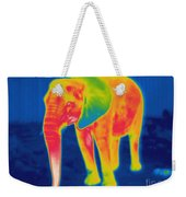 Thermogram Of An Elephant Weekender Tote Bag