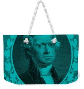 Thomas Jefferson In Turquois Weekender Tote Bag