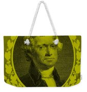 Thomas Jefferson In Yellow Weekender Tote Bag