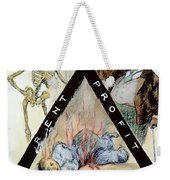 Triangle Factory Fire Weekender Tote Bag