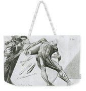 Two Gentlemen Contemplating A Cadaver Weekender Tote Bag