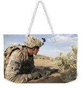 U.s Army Specialist Provides Security Weekender Tote Bag