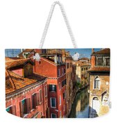 Venice Canal Weekender Tote Bag