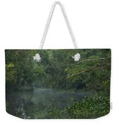 View Of The Menangul River And Rain Weekender Tote Bag