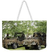 Vw Iltis Jeeps Used By Scout Or Recce Weekender Tote Bag by Luc De Jaeger