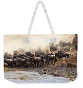 Wildebeest Before The Crossing Weekender Tote Bag