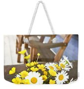 Wildflowers Bouquet At Cottage Weekender Tote Bag