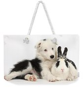 Puppy And Rabbit Weekender Tote Bag