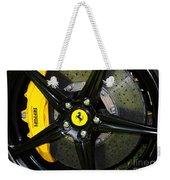 2012 Ferrari 458 Spider Brake Pad Yellow Weekender Tote Bag