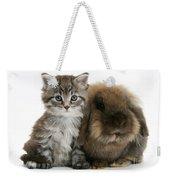 Kitten And Rabbit Weekender Tote Bag