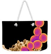 Methicillin-resistant Staphylococcus Weekender Tote Bag by Science Source