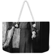 Silent Film Still: Woman Weekender Tote Bag
