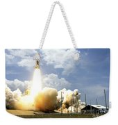 Space Shuttle Atlantis Lifts Weekender Tote Bag