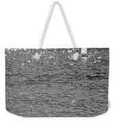 2boats2ducks In Black And White Weekender Tote Bag