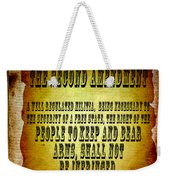 2nd Amendment Weekender Tote Bag