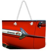 1960 Chevy Impala Convertable Weekender Tote Bag