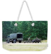 A Belgian Artillery Unit Setting Weekender Tote Bag