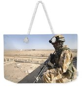 A British Army Soldier Provides Weekender Tote Bag